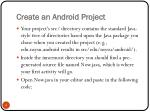 create an android project4
