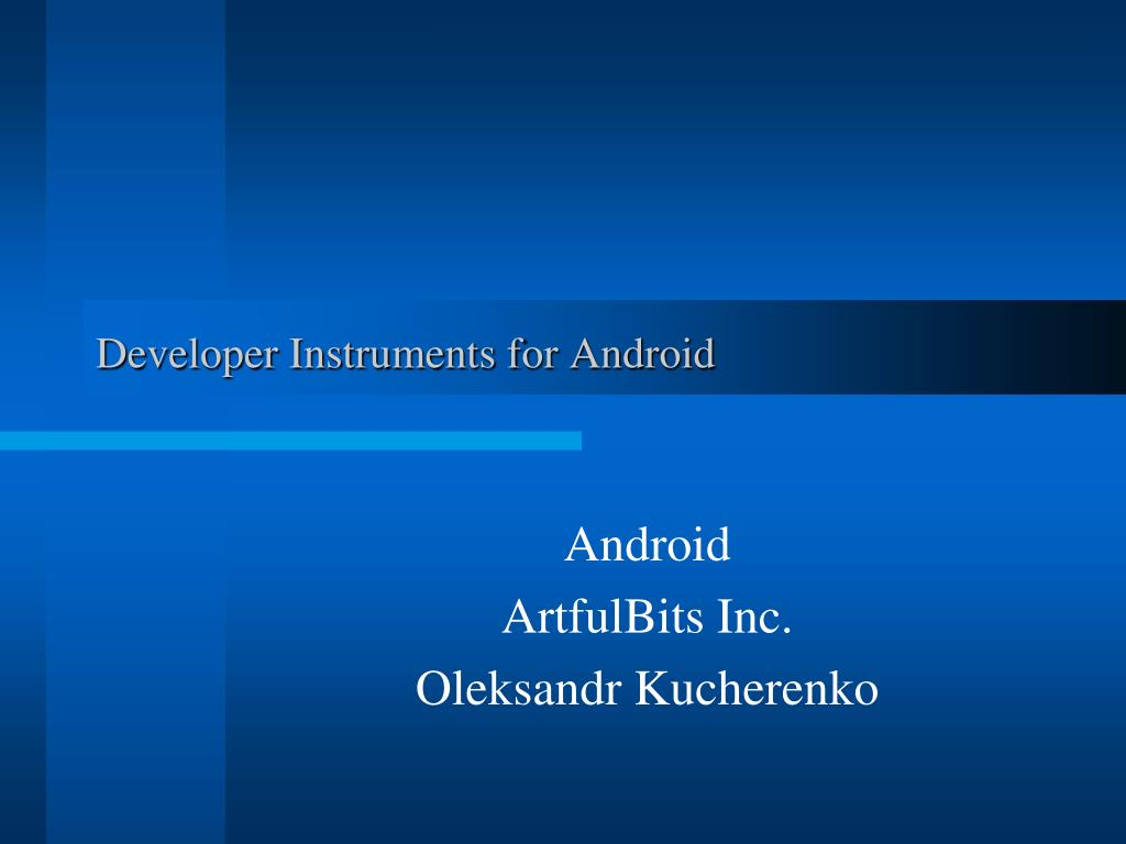 developer instruments for android l.