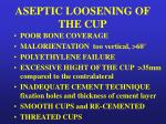aseptic loosening of the cup