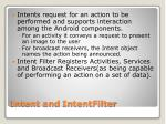 intent and intentfilter