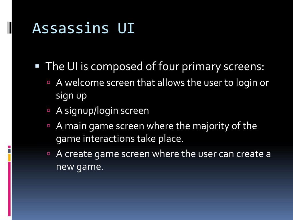 Assassins UI