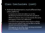 class conclusions cont