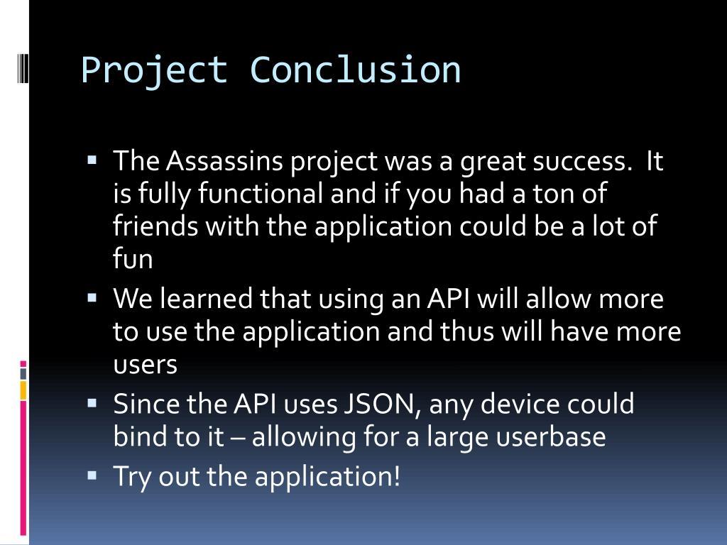 Project Conclusion