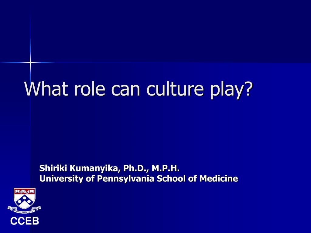 what role can culture play