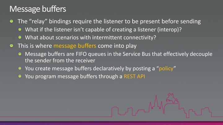 Message buffers