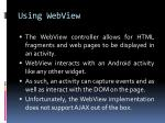 using webview