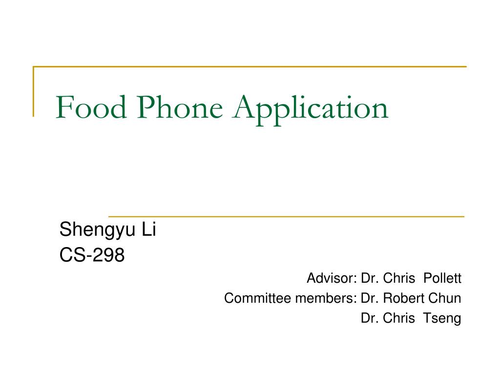 food phone application l.
