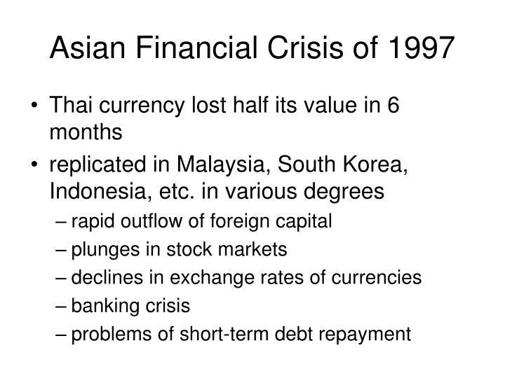 thailands financial crisis 1997