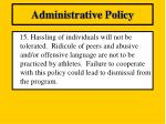 administrative policy14