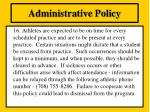 administrative policy15