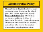 administrative policy16