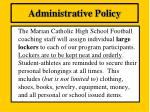 administrative policy18
