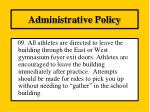 administrative policy8