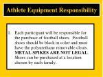 athlete equipment responsibility1