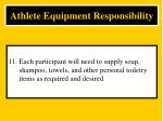 athlete equipment responsibility11