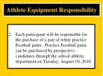 athlete equipment responsibility2
