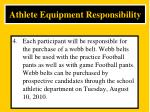athlete equipment responsibility4
