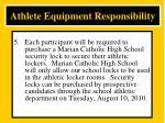 athlete equipment responsibility5