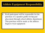 athlete equipment responsibility6