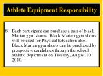 athlete equipment responsibility8