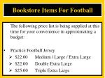 bookstore items for football1