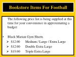 bookstore items for football2