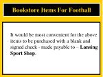 bookstore items for football5