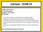 carmel 10 09 10