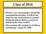 class o f 20141