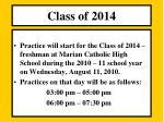 class o f 20142