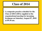 class o f 20143