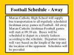 football schedule away1