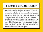 football schedule home