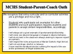 mchs student parent coach oath