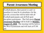 parent awareness meeting1