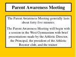 parent awareness meeting2