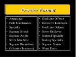 practice format