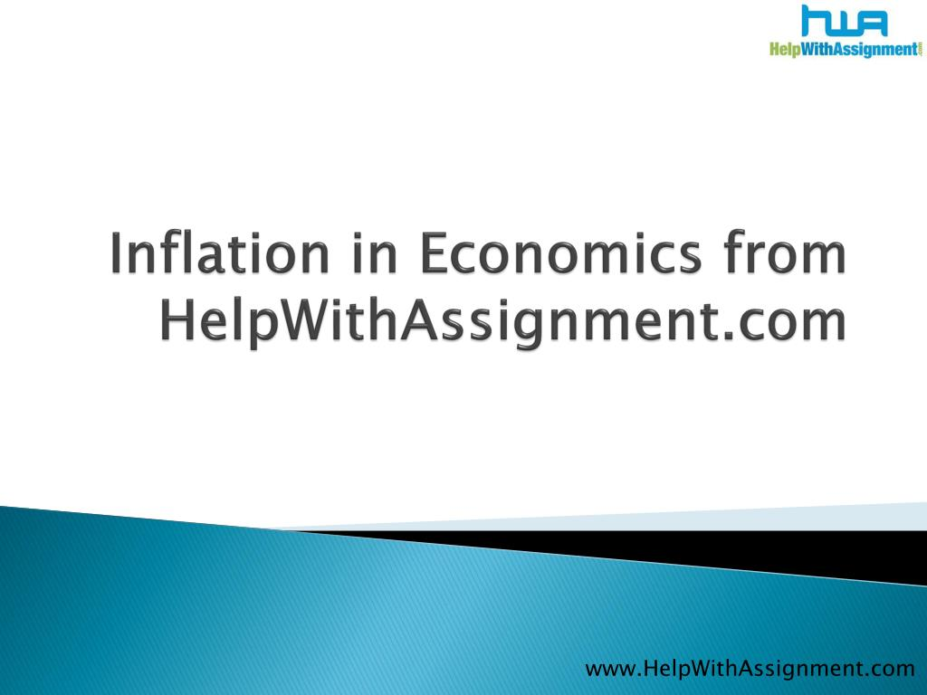 inflation in economics from helpwithassignment com l.