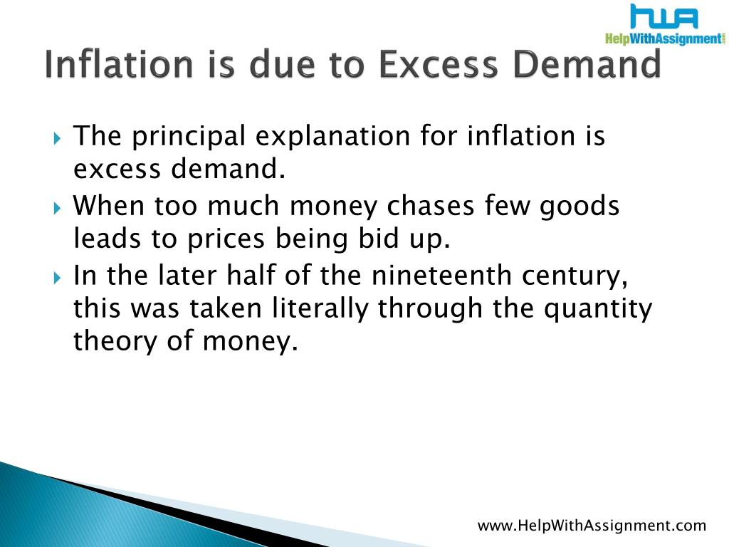 Inflation is due to