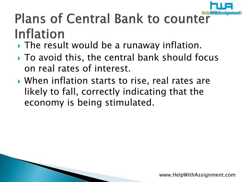 Plans of Central Bank to counter Inflation
