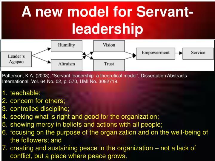 Doctoral dissertation servant leadership