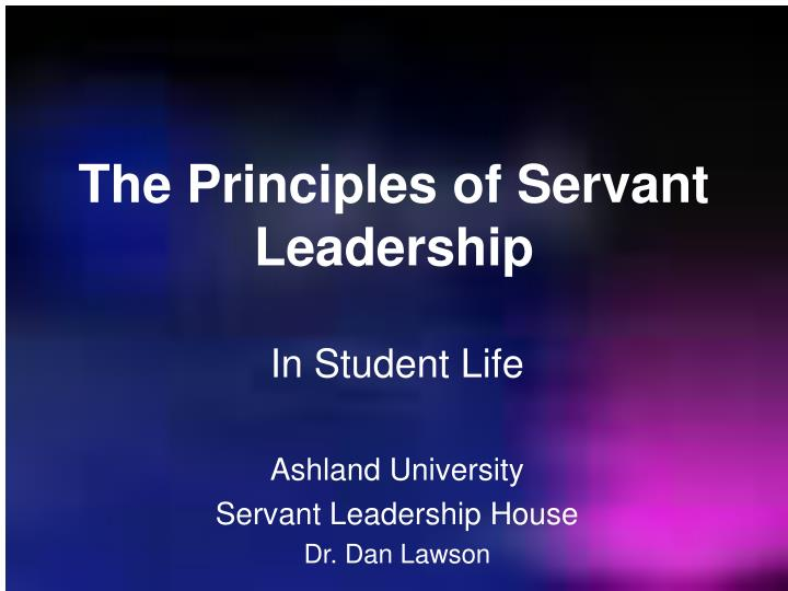 the principles of leadership as shown