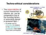 techno ethical considerations