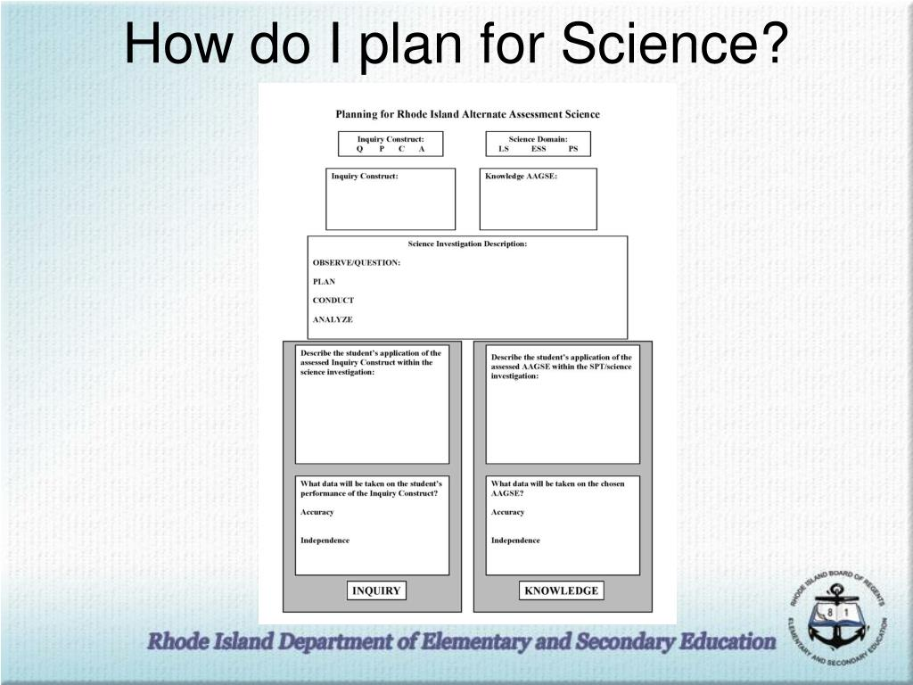 How do I plan for Science?