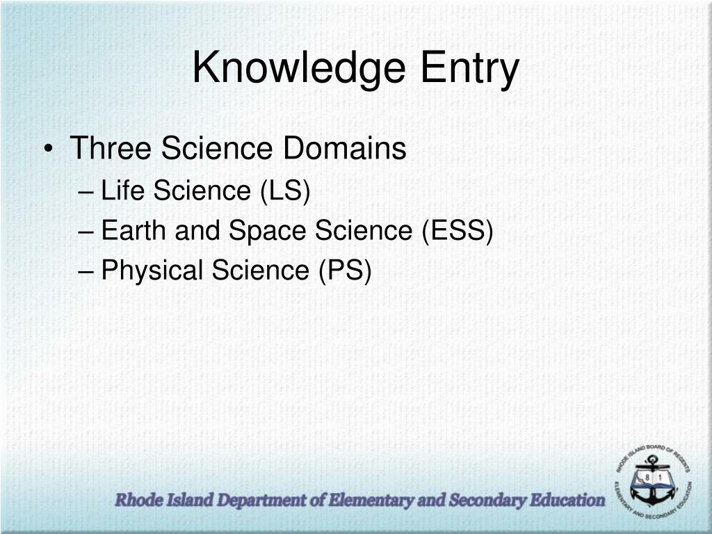 Knowledge Entry