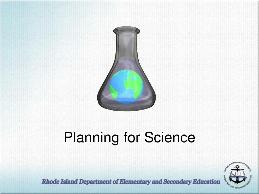 Planning for Science