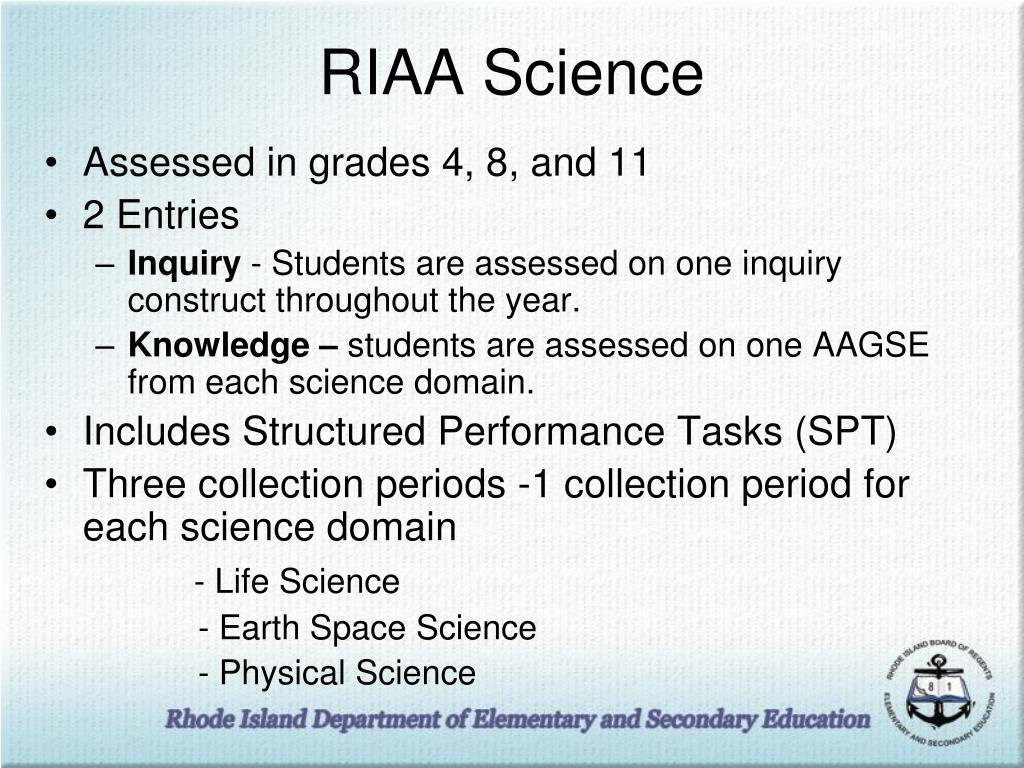 RIAA Science