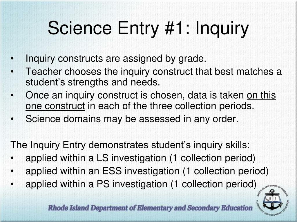 Science Entry #1: Inquiry