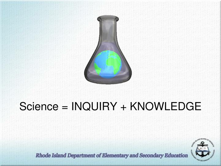 Science inquiry knowledge