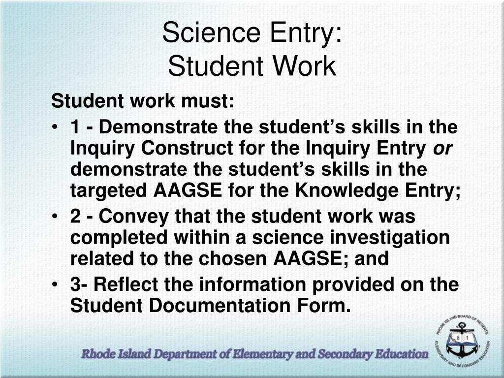 Science Entry: